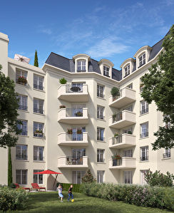 Grand studio 35,06 m2 avec balcon 4,45 m2 - La Garenne triangle d'or